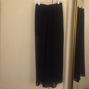 Sheer black maxi skirt!