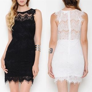 The POPPY sexy back lace dress  WHITE