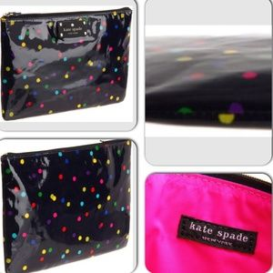 Kate Spade Black Daycation Gia Cosmetic Case