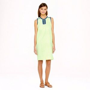 J. Crew Neon Arrow Print Shift Dress