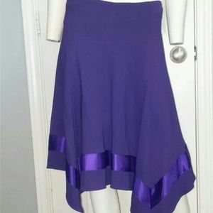 Emporia Armani purple asymmetrical skirt