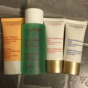 Clarins Skincare Set Cleanser Toner Day Night