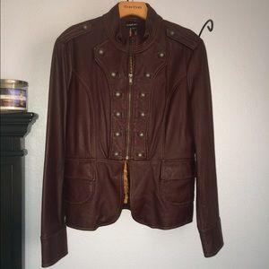💸SaLe💸Bebe Burgundy Military Leather