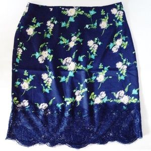 | new | silky floral skirt