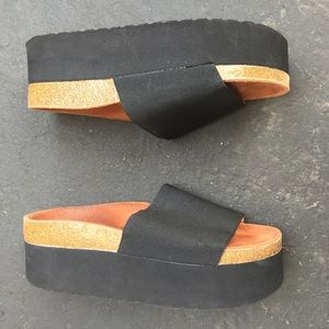 c8a82e416c607 Sixtyseven Shoes - SIXTYSEVEN platform black sandals Sz 7 new