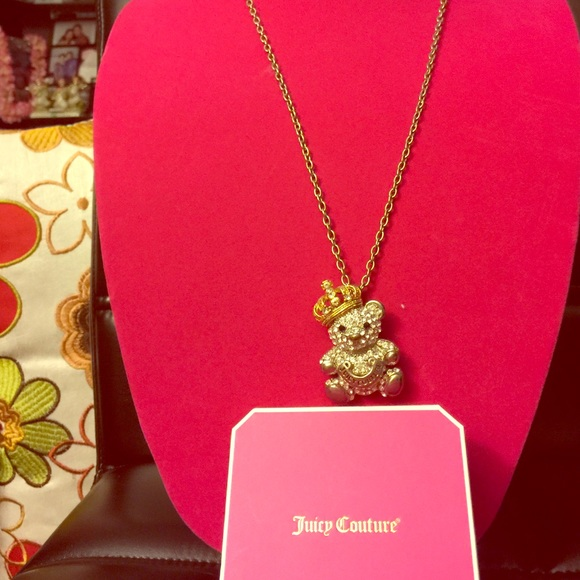 Juicy couture jewelry necklace wd teddy bear poshmark juicy couture necklace wd teddy bear aloadofball Gallery