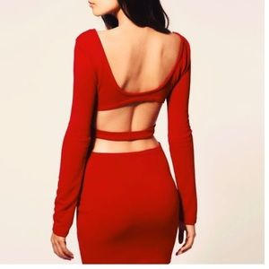 ASOS cutout long sleeve dress