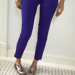 J Crew purple cigarette pants 00 city fit