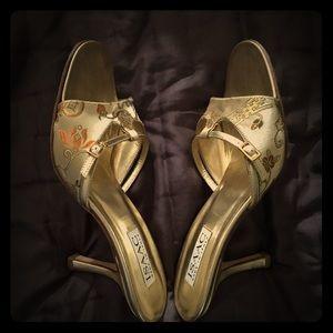 Isaac Mizrahi mule slippers, size 7.5