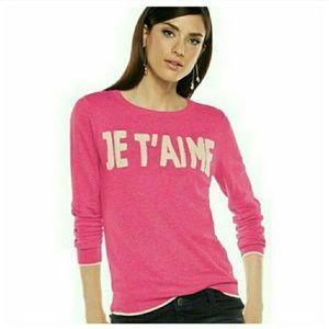 Elle Sweaters - JE T'AIME Parisian Pink Sweater