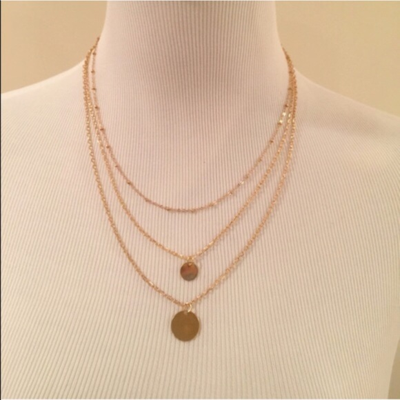 three layer necklace os from abi s closet on poshmark