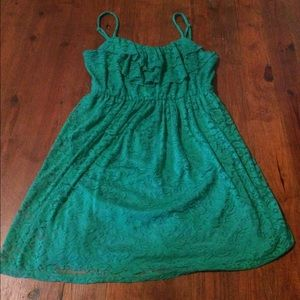 A. Byer Dresses & Skirts - Green Lace Dress