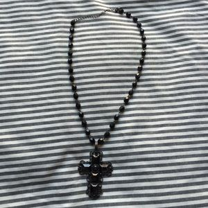 Jewelry - Black cross necklace