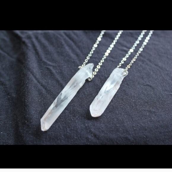 Jewelry - Raw Quartz Crystal Point necklace custom listing