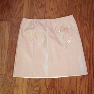 ASOS brand new with out tags PU pink mini skirt
