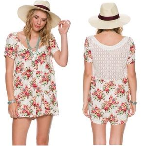 Swell Other - Adorable floral lace back romper