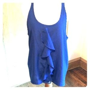 Med, royal blue racerback tank