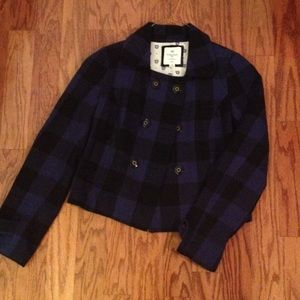 Forever 21 check black and blue coat
