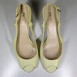 Prada Shoes - FLASH SALE! Prada Cream Ombré Peep-toe Shoes
