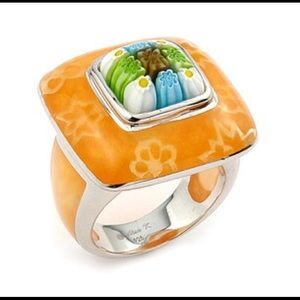 Alan K Jewelry - Murano Glass silver925 ring by Alan K Sz 8 2MR232