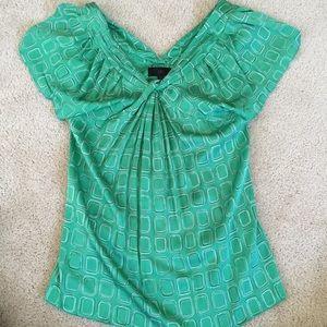 1db34da40ed404 Banana Republic Tops - Flutter sleeve blouse - emerald green stretch silk