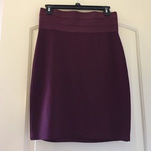 Burgundy high-waisted Bodycon skirt