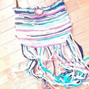 Handwoven multi color purse