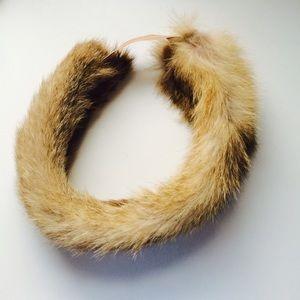 SALE  Real fur vintage headband
