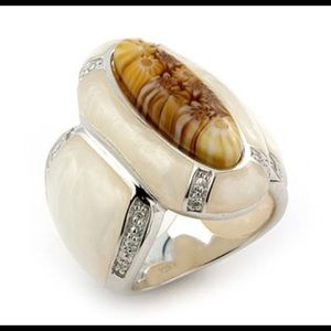 Alan K Jewelry - Murano Glass silver 925 ring by Alan K S6 2MR165