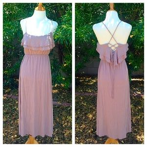 Dresses & Skirts - Pale mocha ruffled maxi