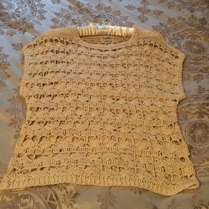 Forever 21 Crocheted Creme Top