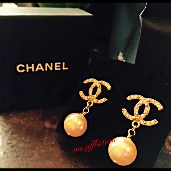 fe5d8aea9fa19a CHANEL Jewelry   Classic Large Cc Earrings   Poshmark