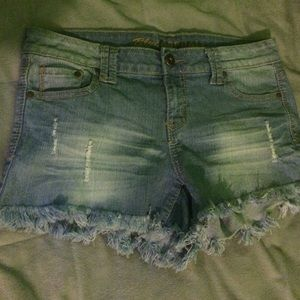 Denim light blue shorts