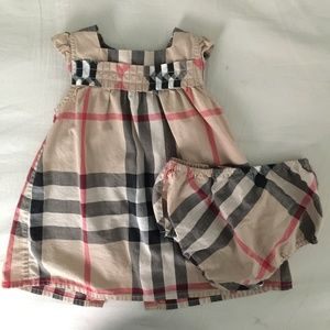 73% off Burberry Dresses Check Print Dress Baby Girl ...