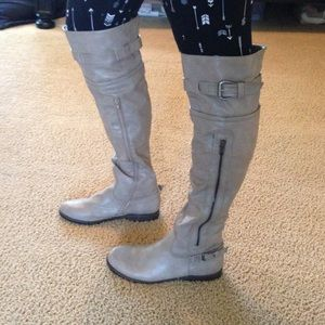 Over-the-knee Tan Boots