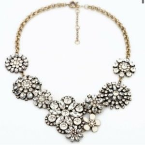 Gorgeous Floral Crystal Boucle Statement Necklace