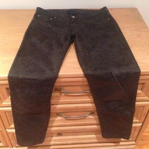 Black Zara skinny pants.