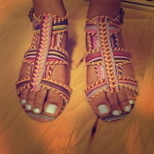 Charlotte Russe Shoes - Charlotte Russe Multi Colored Strappy Sandals