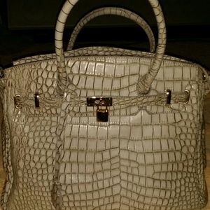 fake birkin bags for sale - 38% off JustFab Handbags - Faux leather handbag (style similar to ...
