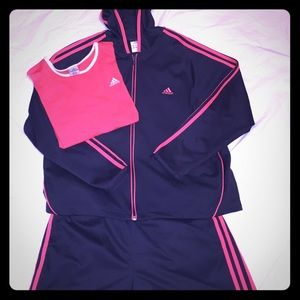 Adidas Jacket Shorts and Tee Outfit!