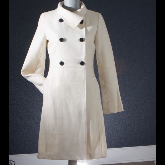 37% off Old Navy Outerwear - Winter white wool coat with black ...