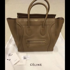 celine stingray box bag s9a2  Camel Celine Mini Shopper Tote