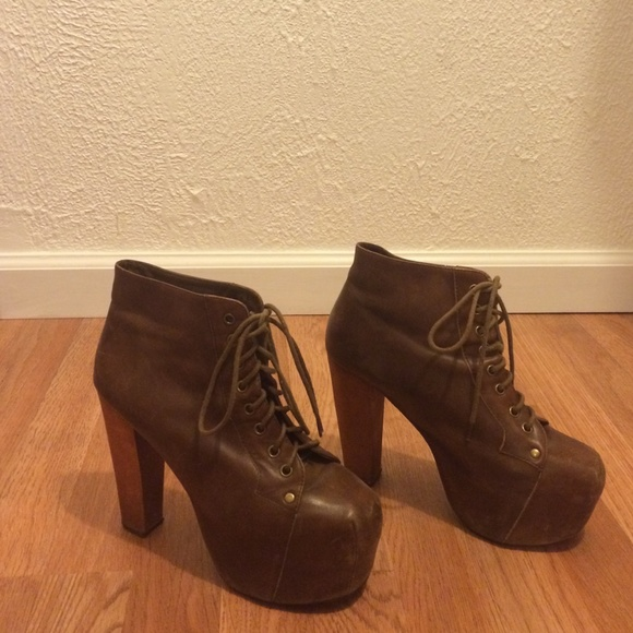 71ae0727e2cc8 Jeffrey Campbell Shoes - Jeffrey Campbell brown distressed leather lita