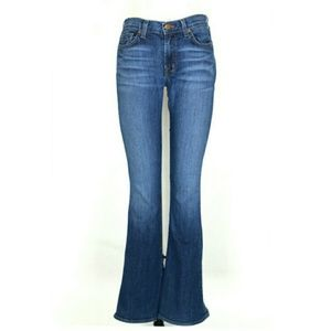 J BRAND martini mid rise skinny flare jeans