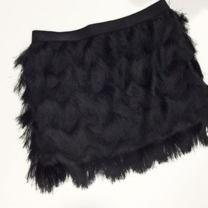 Leith Dresses & Skirts - Black Fringe Mini Skirt