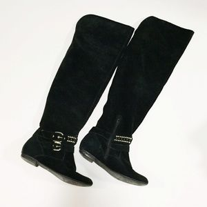 BCBGeneration Shoes - BCBG Over the Knee Studded Boots