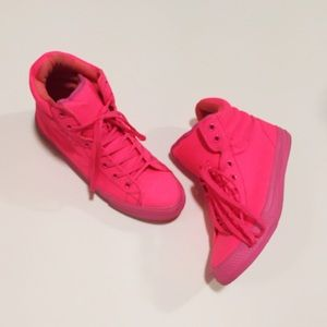 ASOS Shoes - Neon Pink ASOS High Top Sneakers
