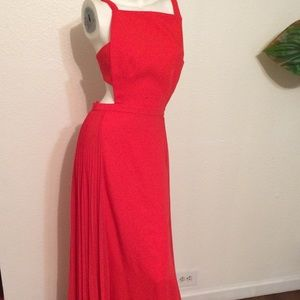 Bcbg maxazria side pleated long dress sold out!!