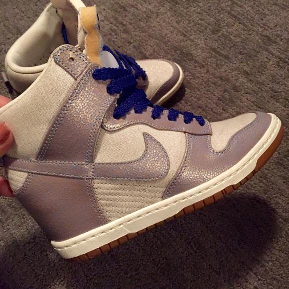 Zapatos Nike Dunk Cuña Sky Hi High Top Zapatillas Con Cuña Dunk Azul Poshmark 07f217