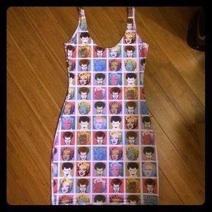 Blackmilk Dresses & Skirts - Blackmilk Pop art bodycon dress size small